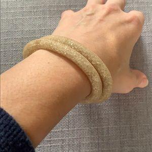Swarovski Clear and gold Wrap bracelet